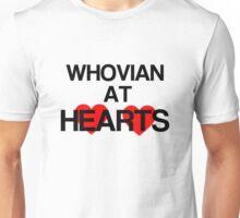 Whovian at Hearts - black Unisex T-Shirt