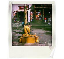 the street artist Poster