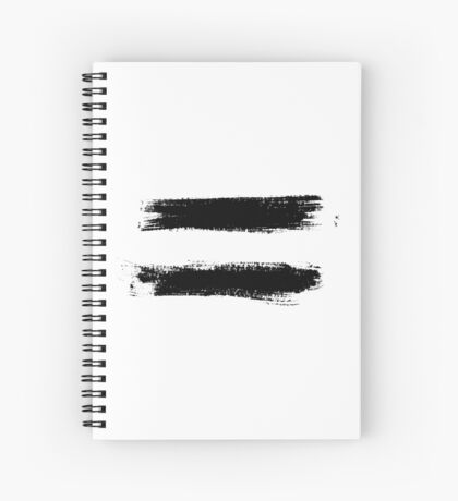 Equality Sign Paint Black Rough Spiral Notebook