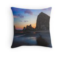 Cannon Beach Seastacks Throw Pillow