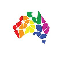 Gay Marriage Rights Australia (Rainbow Coloured Logo) - iPad by Australian Marriage Equality