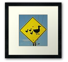 Mother and Babies Crossing Framed Print