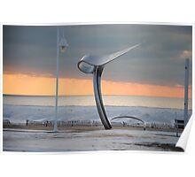 Sunset along Lake Michigan at Silver Beach - 5 Poster