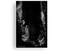 Back&Night - Black&White Canvas Print