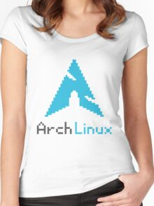 Pixelated ArchLinux Women's Fitted Scoop T-Shirt
