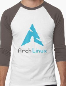 Pixelated ArchLinux Men's Baseball ¾ T-Shirt