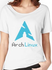 Pixelated ArchLinux Women's Relaxed Fit T-Shirt