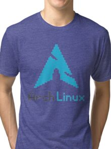 Pixelated ArchLinux Tri-blend T-Shirt