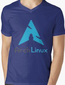 Pixelated ArchLinux Mens V-Neck T-Shirt