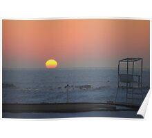 Sunset along Lake Michigan at Silver Beach - 3 Poster