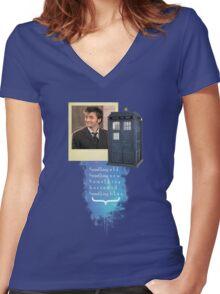 Something Blue... {2} Women's Fitted V-Neck T-Shirt