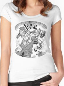 Double Rocket Punch!! Women's Fitted Scoop T-Shirt