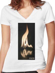 Fire on Glass - FredPereiraStudios.com_Page_09 Women's Fitted V-Neck T-Shirt
