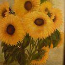 Sunflowers II by Phyllis Frameli