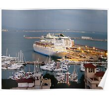 Cruise ships in Palma Poster