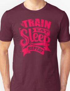 Train Eat Sleep Repeat Gym T-Shirt