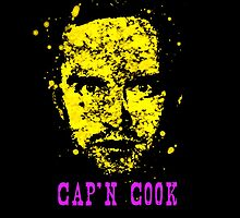BrBa Cap'n Cook Pinkman Digital Splatter by justin13art