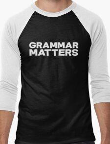 Grammar Matters Men's Baseball ¾ T-Shirt