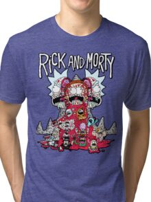 Rick And Morty Zombie Tri-blend T-Shirt