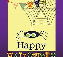 Happy Halloween Spider & Web by Daisylin