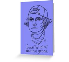 American Hipstory: Washington Greeting Card