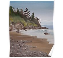China Beach, Vancouver Island Poster