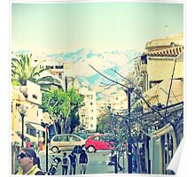 Amongst the urban architecture of Chania, Crete, Greece Poster