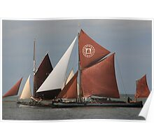 Sailing Barges Poster