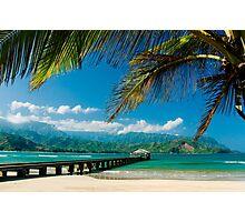 Hanalei Bay Pier,  Kauai Photographic Print