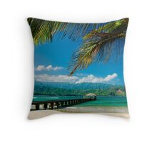 Hanalei Bay Pier,  Kauai Throw Pillow