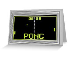 PONG Greeting Card