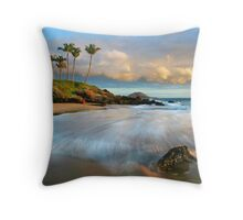 Waves in Motion at Secret Beach Throw Pillow