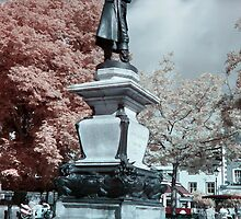 John Howard statue in Infrared by Rykatu