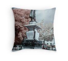 John Howard statue in Infrared Throw Pillow