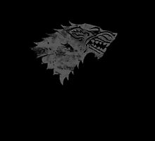 House Stark Worn Black by Greg Brooks