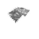 House Stark Worn White by Greg Brooks