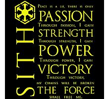 SITH Quotes Photographic Print