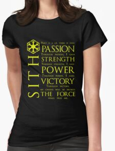 SITH Quotes Womens Fitted T-Shirt