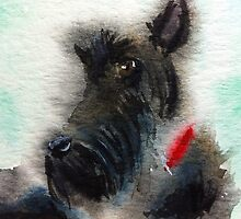 Scottish Terrier watercolour by archyscottie