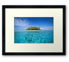 Motu Island, Bora Bora Framed Print