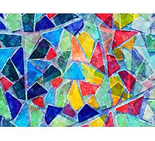 Colorful Mosaic Abstract Pattern Photographic Print
