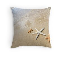 Three Sea Stars Throw Pillow