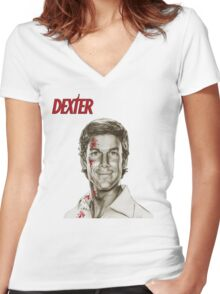 Dexter Women's Fitted V-Neck T-Shirt