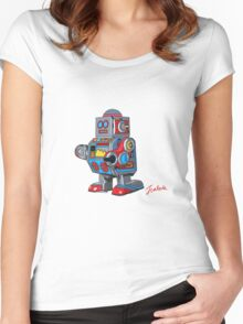 Simple robot Women's Fitted Scoop T-Shirt