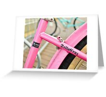 Pink Cruiser Greeting Card