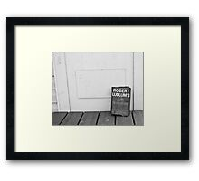 Book on the Walk Framed Print