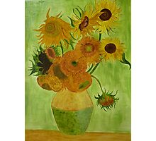 Sunflowers - Vincent Van Gogh - reproduction Photographic Print
