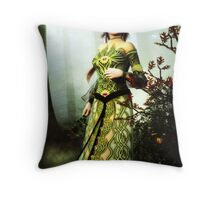 The Lady of Sherwood Throw Pillow