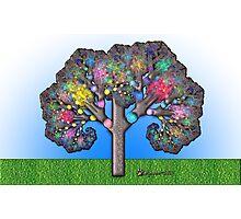 Fractal Tree Photographic Print