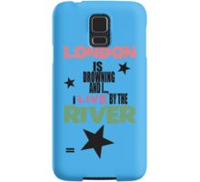 I live by the river (blue star edition) Samsung Galaxy Case/Skin